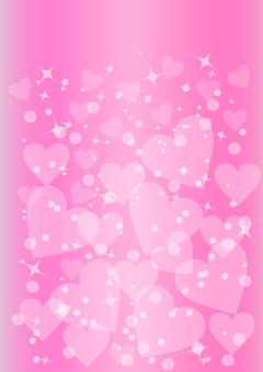 Pink Glittering Heart Background