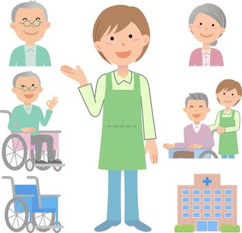 200116 Caregiver, wheelchair 2