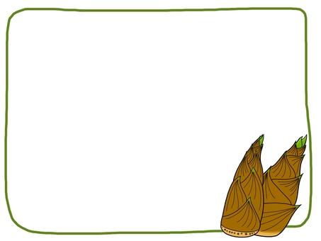 竹筍框架例證