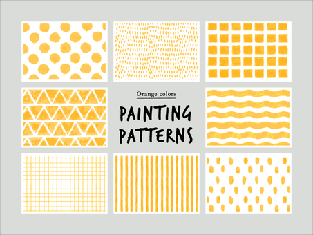Orange hand-drawn pattern