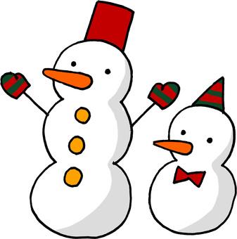 2 snowmen