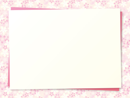 Cherry blossom motif background material 08