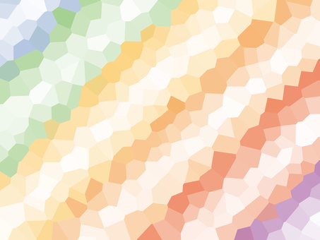 Rainbow color polygon background material