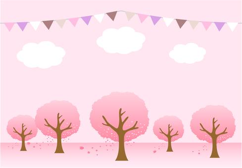 Background Sakura Forest