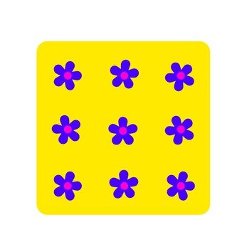 Flower handle · yellow violet