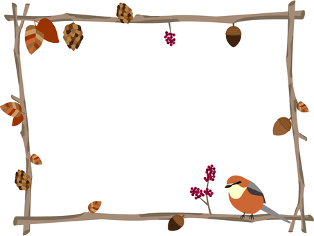 Twig and hanging frame
