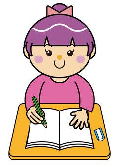Girl 13_01 (studying)