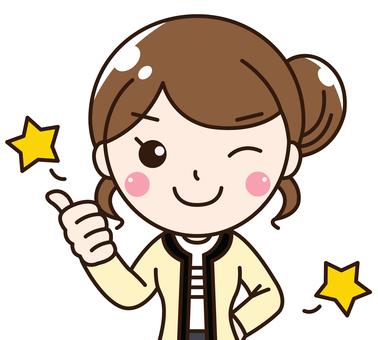 Female company worker OL's smile, motivation, confidence