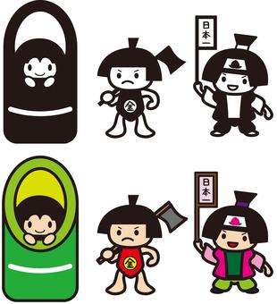 かぐや姫と桃太郎と金太郎2pt