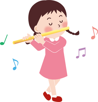 Flute and girl