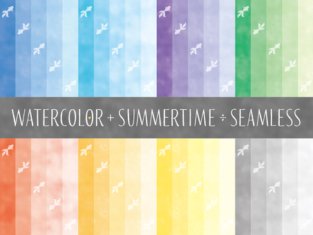 Summer watercolor style color chart