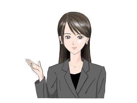 Guided woman (long hair)