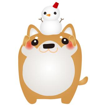 Shiba Inu Snowman