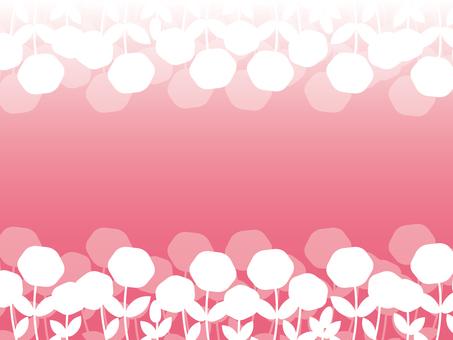 花・優しいカラーフレーム