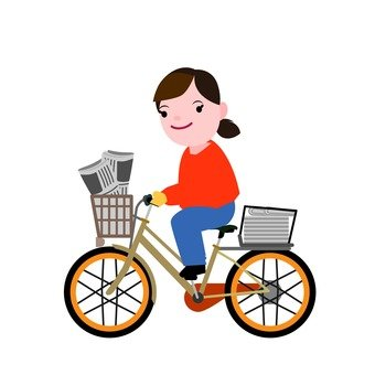 Newspaper delivery by bicycle
