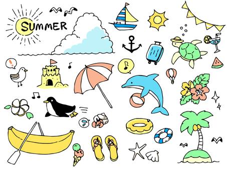 手繪插圖集01_夏季動物