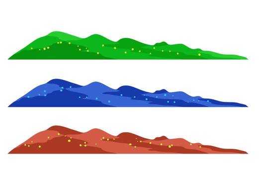 山模式3種顏色