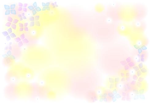 Hydrangea pastel background
