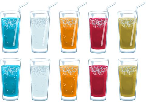Illustration set of soft drink