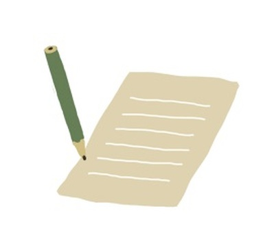 Pencil and note paper