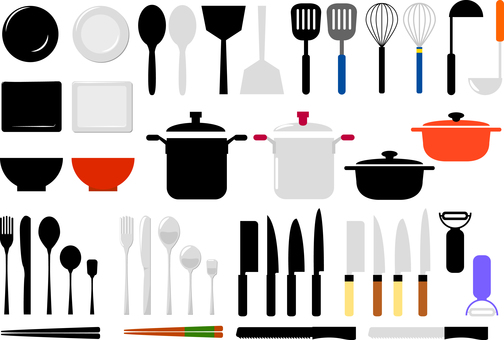 Cookware kitchen material collection
