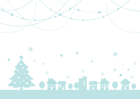 Christmas Cityscape Background Winter