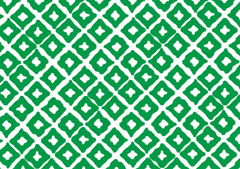 Green Japanese style pattern