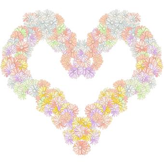 Flower Heart Cut Out (Gerbera)