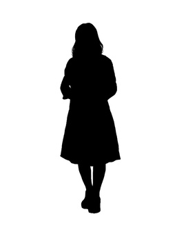 女性のシルエット