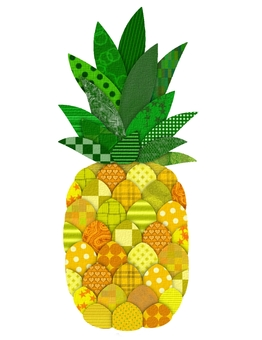 Pineapple paste painting style