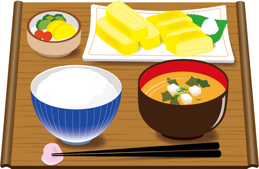 Food breakfast (Japanese) dashi rolls egg