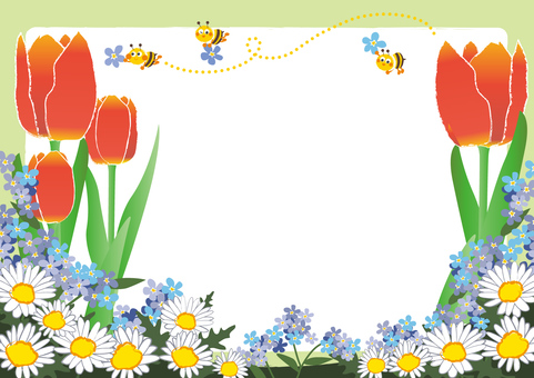 April _ Apr _ Flower fields and honey bees 4