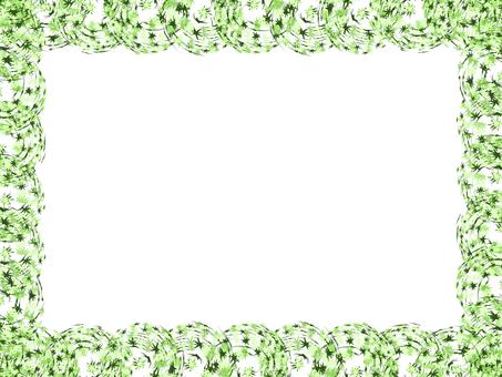 Japanese pattern frame (green)