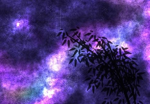 Glitter purple base Tanabata star space universe wallpaper background