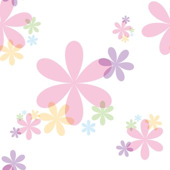 Flower seamless pattern, spring