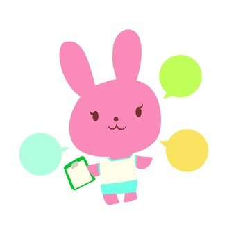 Rabbit with esthetic staff