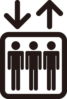 Pictogram of elevator