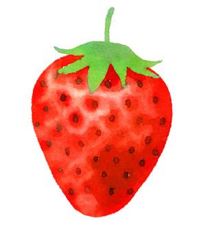 Handwritten strawberry