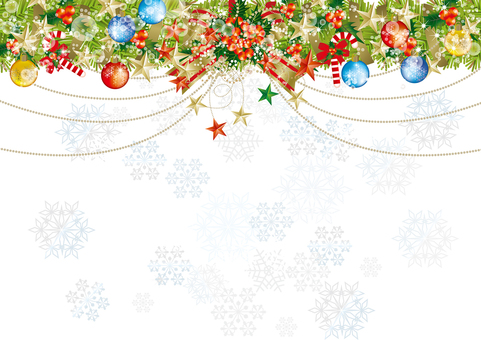 Christmas wreath & snow 15