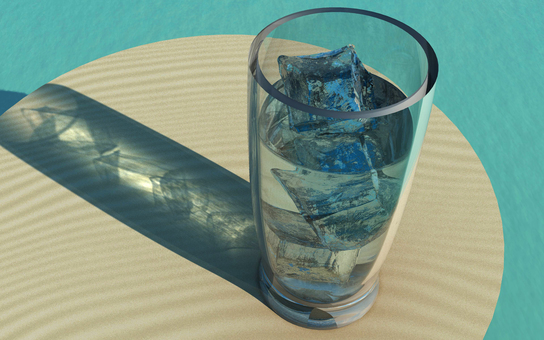 Glass with ice 5