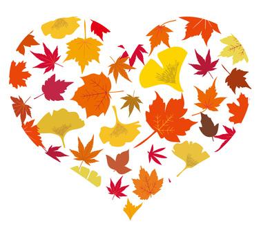 낙엽 낙엽 은행 나비 단풍 단풍 하트
