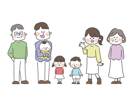Handwritten person (three generation family whole body)
