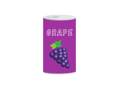 Illustration of grape juice