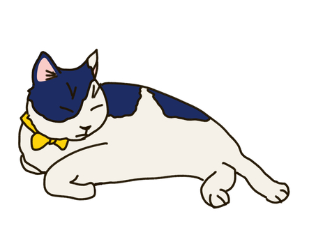 Lie down Nyanko blue
