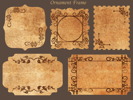 Antique style ornament frame