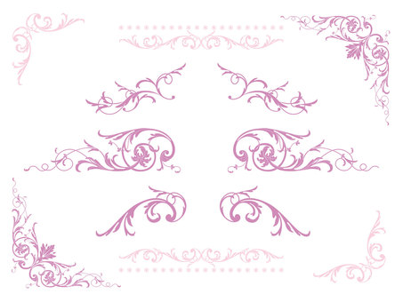 Antique style Western style frame 04