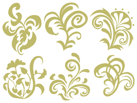 Art Nouveau Decoration 08 (Yellow)