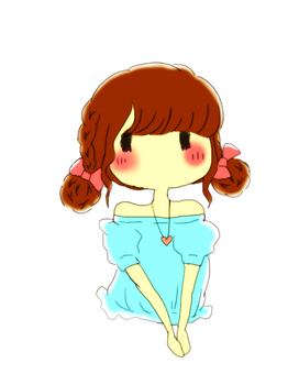 Braid twin dumpling girl
