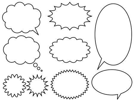 Speech balloon set