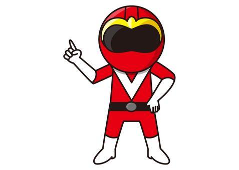 Red Ranger - pointing